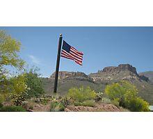 Apache Trail Flag Photographic Print