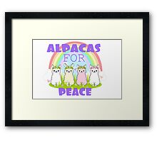 Alpacas For Peace  Framed Print