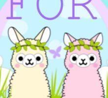 Alpacas For Peace  Sticker