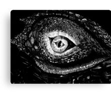 Dragon Eye (Black nad White) Canvas Print
