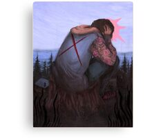 Heavy on Your Shoulders Canvas Print