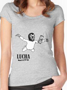 LUCHAVANA Women's Fitted Scoop T-Shirt