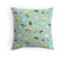 Cats Baking Cakes and other Sweets Throw Pillow