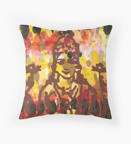Lakshmi Goddess of Abundance yoga inspired art Throw Pillow