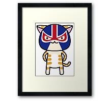 CAT LUCHADOR Framed Print