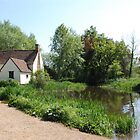 Flatford Mill - home of the Haywain by Constable by stephen denton