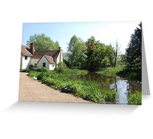 Flatford Mill - home of the Haywain by Constable Greeting Card
