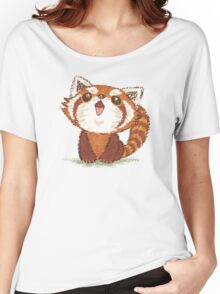 Red panda happy Women's Relaxed Fit T-Shirt