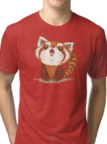 Red panda happy Tri-blend T-Shirt