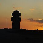 Sunset on Lorraine's cross, Pen Hir by MitchHippie
