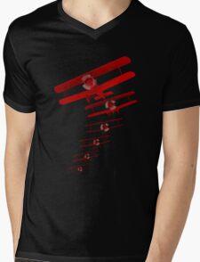 Retro Biplane Mens V-Neck T-Shirt
