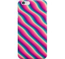 Abstract Color Burn Pattern - Geometric Lines / Optical Illusion in Rainbow Acid Colors iPhone Case/Skin