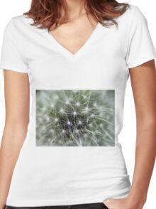 Dandelion - Macro - Women's Fitted V-Neck T-Shirt