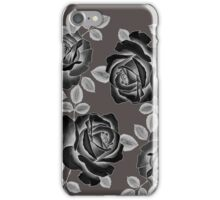 Black Realistic Roses iPhone Case/Skin
