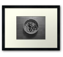 Route 66 Ashtray  Framed Print