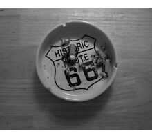 Route 66 Ashtray  Photographic Print