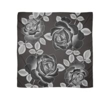Black Realistic Roses Scarf