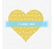 Love In A Heart Photographic Print
