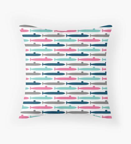 Colorful Submarine Squadron Throw Pillow