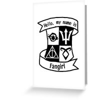 Fangirl Crest Thing Greeting Card