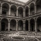 The courtyard of the University Palace by Andrea Rapisarda