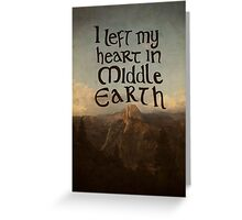 Middle Earth Greeting Card