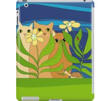 Three Cats, Two Flowers, One Snail and A Ladybug iPad Case/Skin