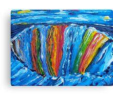 abstract vision of rainbow falls.............. Canvas Print