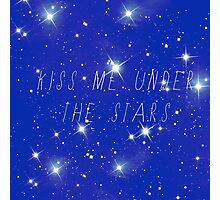 Kiss me under the stars Photographic Print