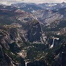 Vernal Falls and Nevada Falls from Glacier Point by ejlinkphoto