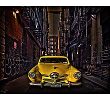 Back Alley Taxicab Photographic Print