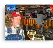William Bryan Massey III @ Fred's Texas Cafe Canvas Print