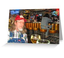 William Bryan Massey III @ Fred's Texas Cafe Greeting Card