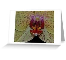 Polka Dotted Orchid Greeting Card