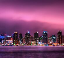 San Diego By Night by Lynn Geoffroy