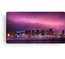San Diego By Night Canvas Print
