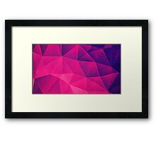 Abstract Polygon Multi Color Cubizm Painting in deep pink/purple  Framed Print