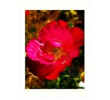 Red Poppy Fractalius Art Print