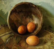 Three Eggs and One Wooden Bowl by Jing3011