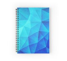 Abstract Polygon Multi Color Cubizm Painting in ice blue Spiral Notebook