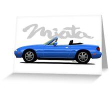 Mazda Miata blue Greeting Card