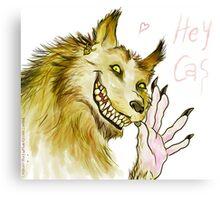 Werewolf!Dean waving Canvas Print