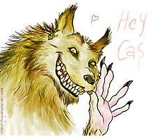 Werewolf!Dean waving Photographic Print