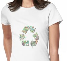 Recycling Symbol T Shirt Womens Fitted T-Shirt