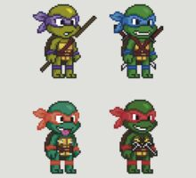 Teenage Mutant Ninja Turtles Pixels by geekmythology