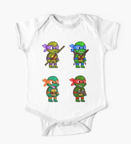 Teenage Mutant Ninja Turtles Pixels One Piece - Short Sleeve