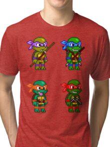 Teenage Mutant Ninja Turtles Pixels Tri-blend T-Shirt