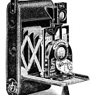 Vintage Camera Line Art by Kawka