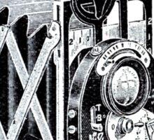 Vintage Camera Line Art Sticker
