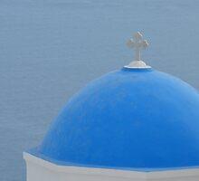Santorini dome by AHigginsPhoto